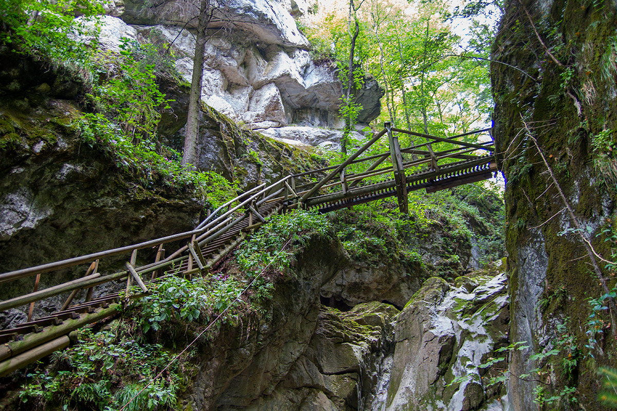 Kesselfallklamm – cudowne wodospady
